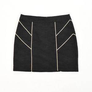 Trina Turk Textured Cotton Piped Mini Skirt